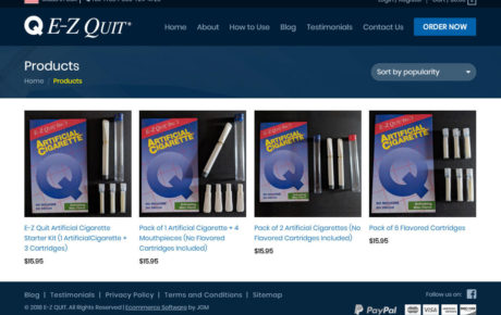 E-Z Quit Inc.'s Artificial Cigarette - Reusable Plastic Cigarette